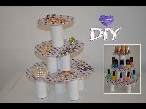 Comment faire un pr sentoir bijoux ou vernis ongles - Comment fabriquer un porte bijoux ...