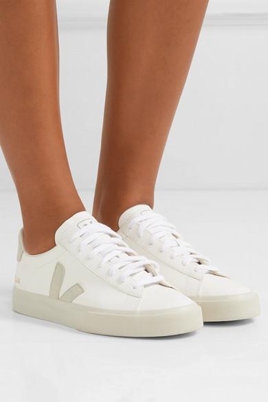Introducir alojamiento ganar  White + NET SUSTAIN Campo leather and vegan suede sneakers   Veja   White  fashion sneakers, Sneakers fashion, White leather sneakers