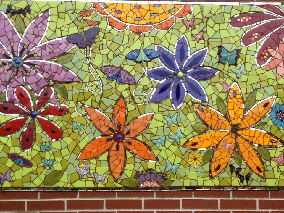 Mosaic Mural For Butterfly Garden At Edible Schoolyard