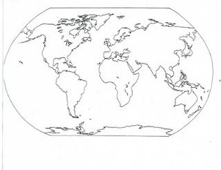 graphic relating to Continents and Oceans Printable identified as Blank and Loaded-Inside of Maps of the Continents and Oceans