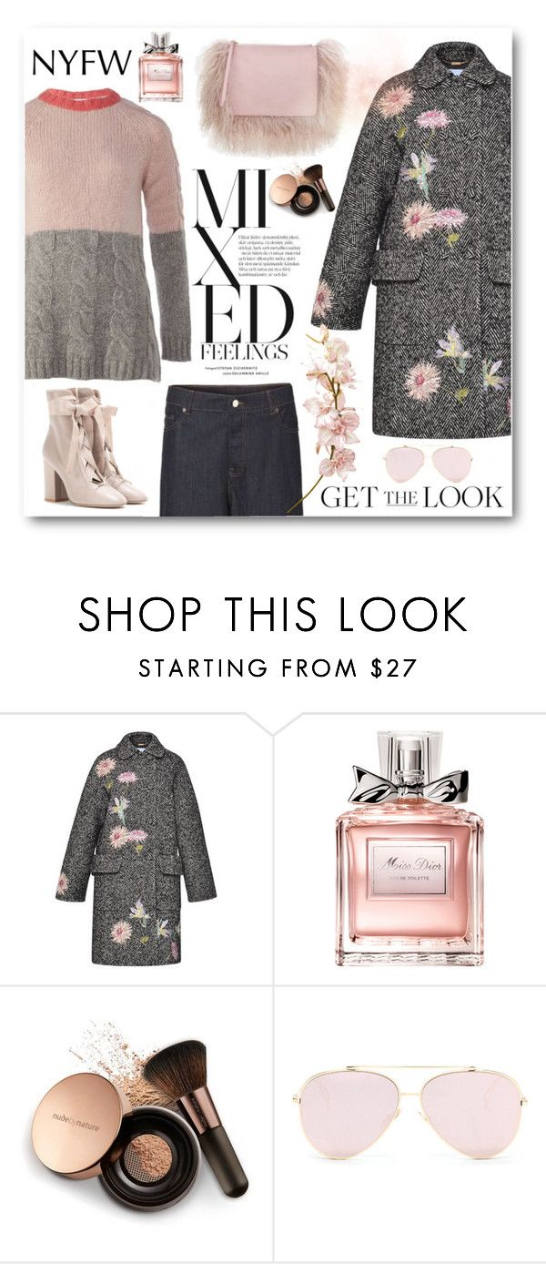 """""""New York winter look"""" by sundango ❤ liked on Polyvore featuring Blumarine, Christian Dior, Nude by Nature and Valentino"""
