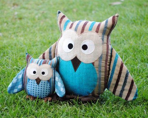 Owl Pattern Soft Toy Plushie Cushion Nursery Decor PDF Sewing ...