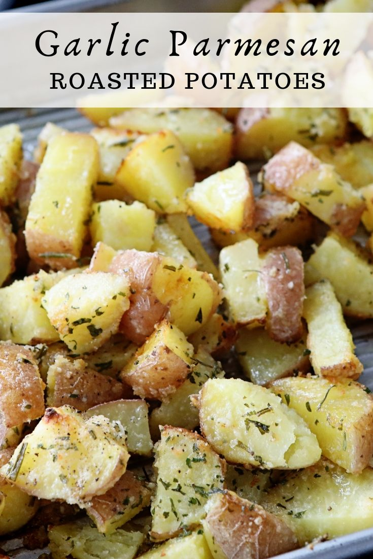 Garlic Parmesan Roasted Red Potatoes with On-Cor