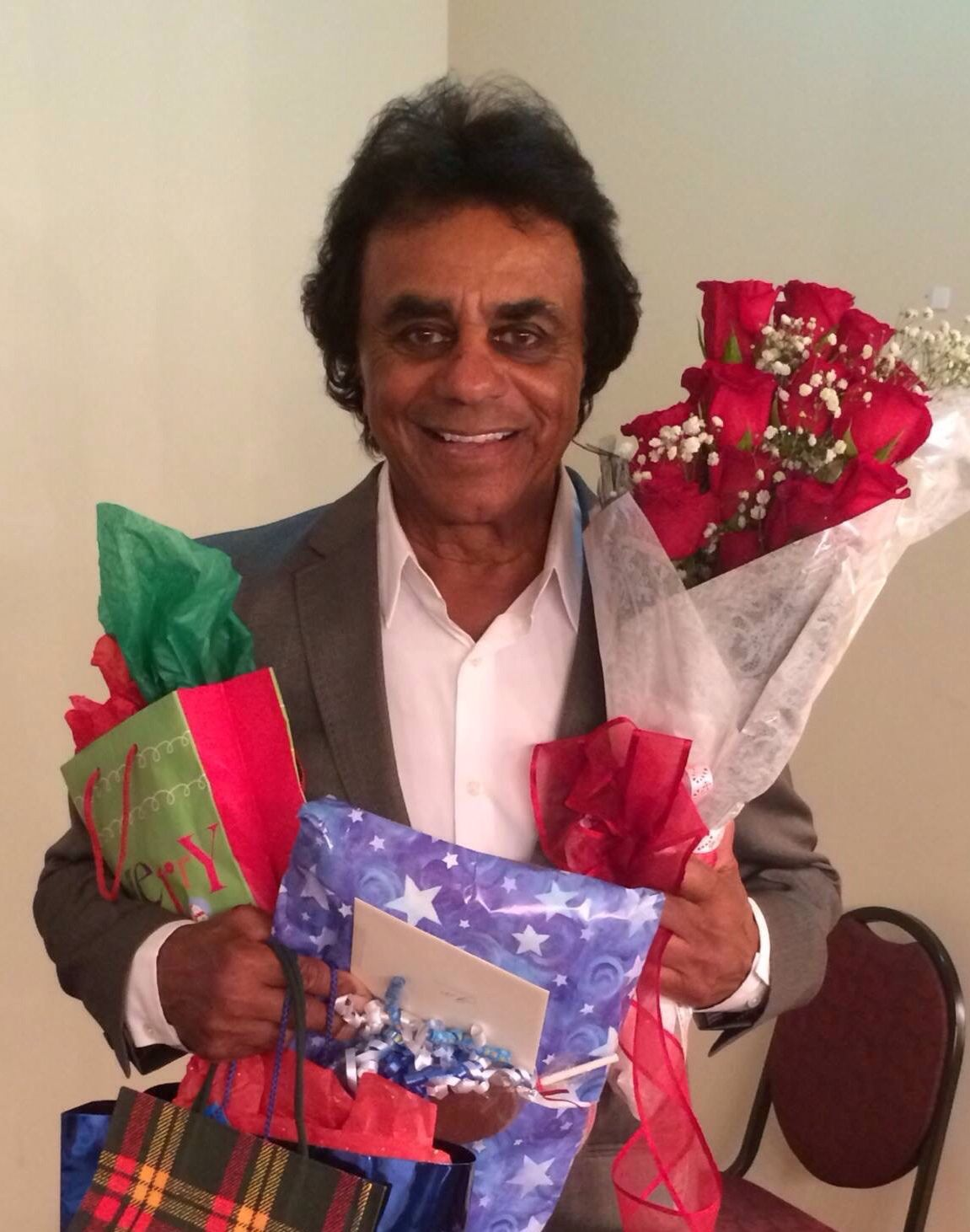 Merry Christmas Johnny Mathis! The blue present is from me!   Johnny ...
