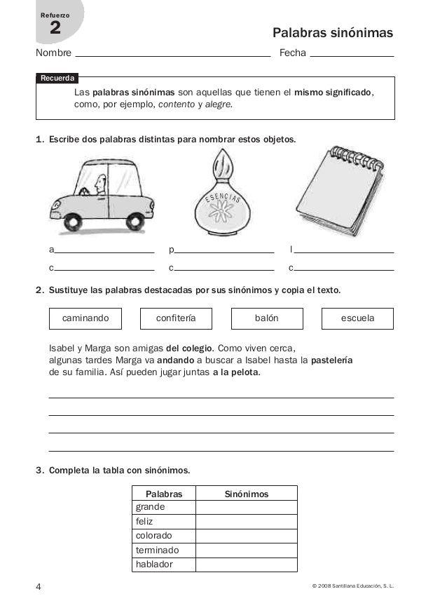 Lengua repaso y ampliación 3º primaria Santillana   educación ...