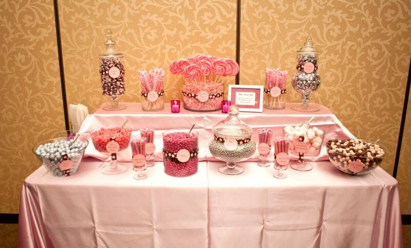 Wondrous Pink Brown White And Silver Candy Buffet At A Sweet 16 Download Free Architecture Designs Rallybritishbridgeorg