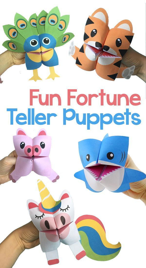 Have Your Kids Learn Origami By Creating One Of These Insanely Fun Fortune Tellers Puppets Print Out Our Patterned Paper And Create A