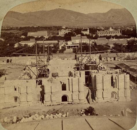 Salt Lake temple construction
