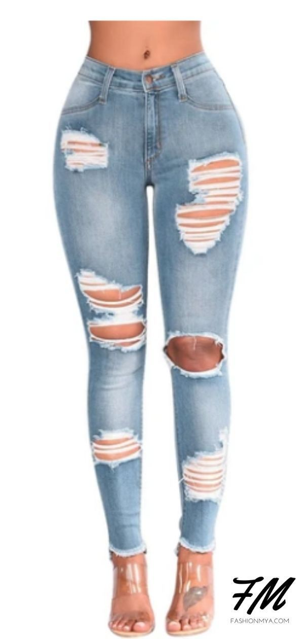 Women Denim Skinny High Waist Destroyed Knee Holes Pencil Stretch Ripped Jeans   #jeans #jeansoutft #rippedjeans #rippedjeansoutfi t#womensjeans #womensfashion #highwaistedjeansoutfi t#highwaistedjeans #highrisejeansoutfit #fashion# skinnyjeans #skinnyjeansoutfit #rippedskinnyjeans #springfashion #shoppingoutfit #boutiqueclothing #womensclothing #womensclothes# springfashioncasual #shoppingonline