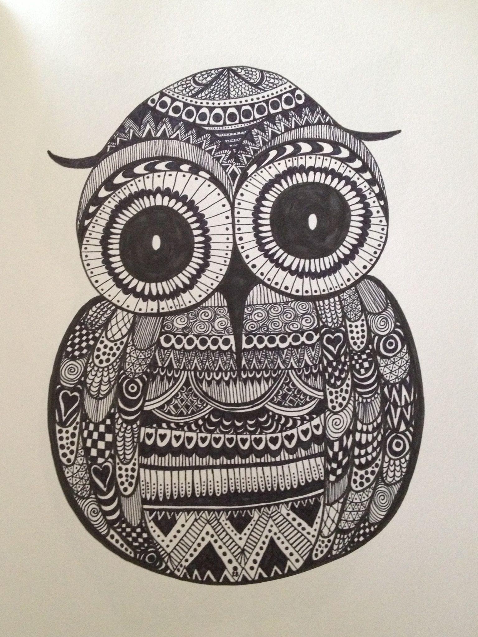 Examples of Zentangle Project | DOODLES | Pinterest | Owl ...
