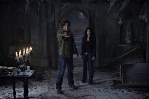 Still of Jared Padalecki and Genevieve Padalecki in Supernatural (2005)