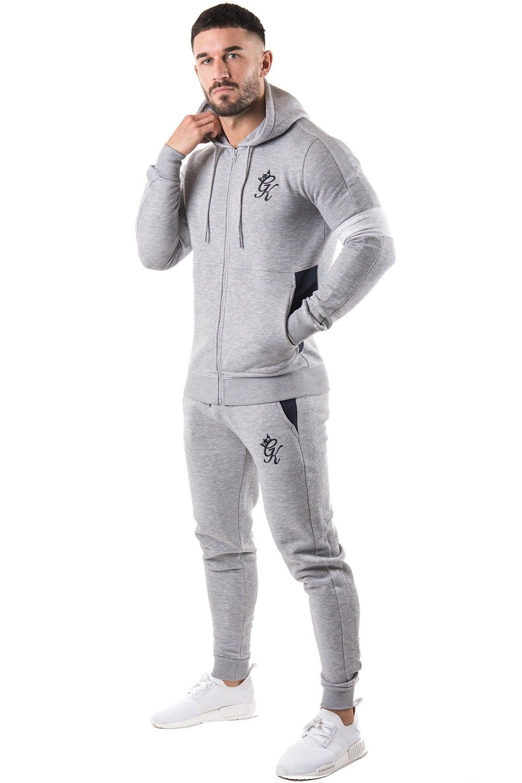 Men Boys Full Side Panel Tracksuits Slim Fit Trouser Zip Up Hoodies Gym Jogging