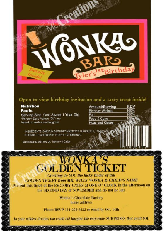 Willy Wonka Golden Ticket Invitation Template was Best Template To Make Perfect Invitations Ideas