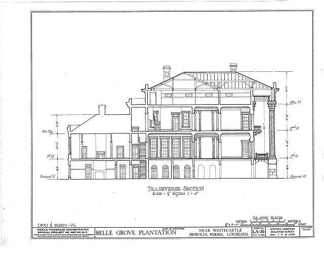 HABS LA,24-WHICA.V,1- (sheet 7 of 36) - Belle Grove, White Castle, Iberville Parish, LA
