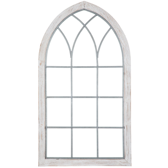 White Cathedral Window Wood Wall Decor In 2020 Wood Wall Decor