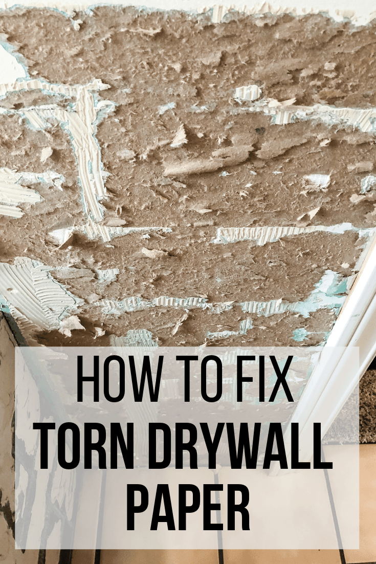 Repair Torn Drywall Paper With Zinsser Gardz Sealer In