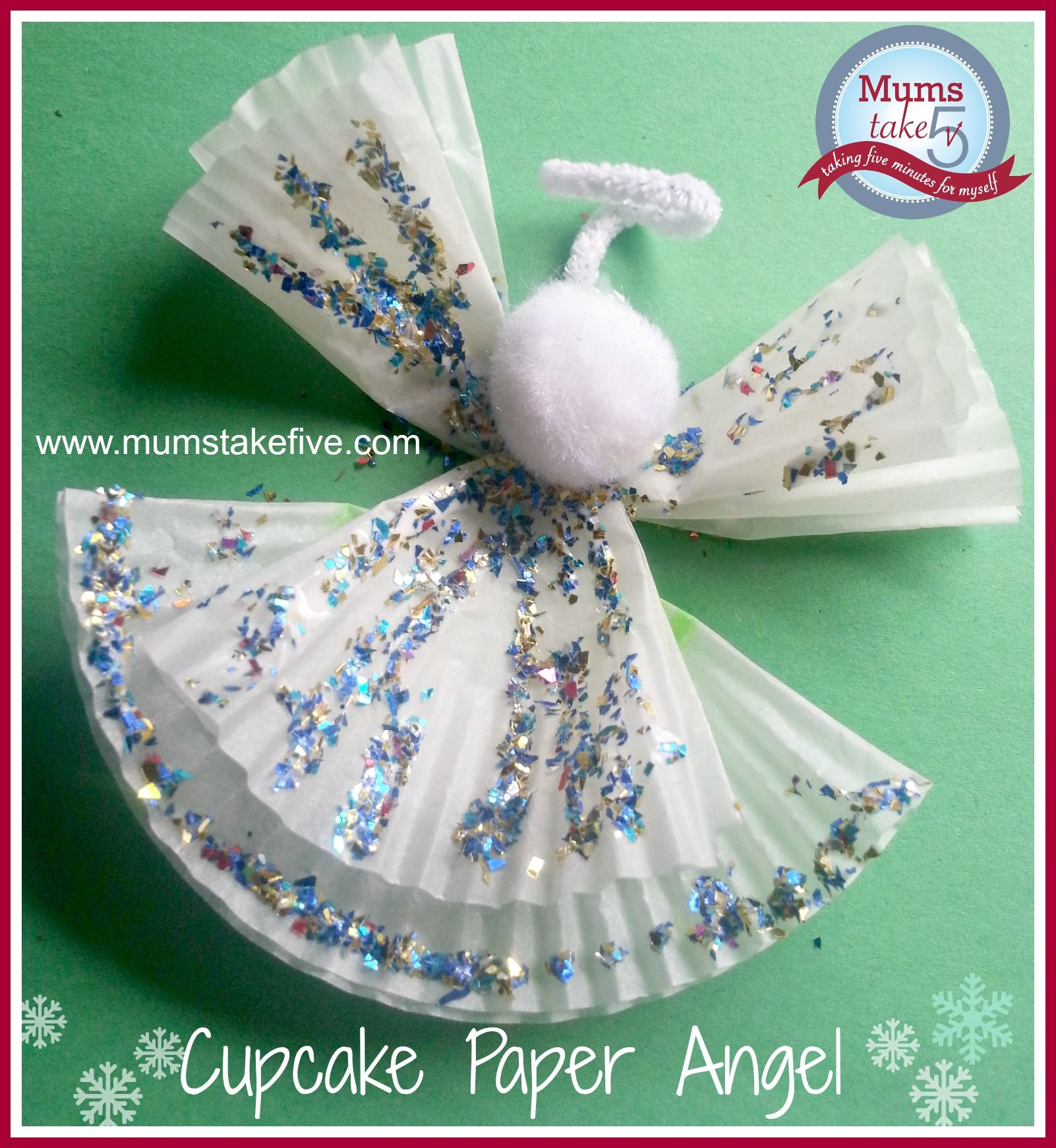 Christmas kids craft using cake patty liners christmas angel christmas kids craft using cake patty liners jeuxipadfo Choice Image