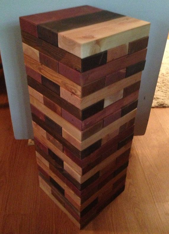 life size stained jenga set crafts life pinterest jenga craft and project ideas. Black Bedroom Furniture Sets. Home Design Ideas