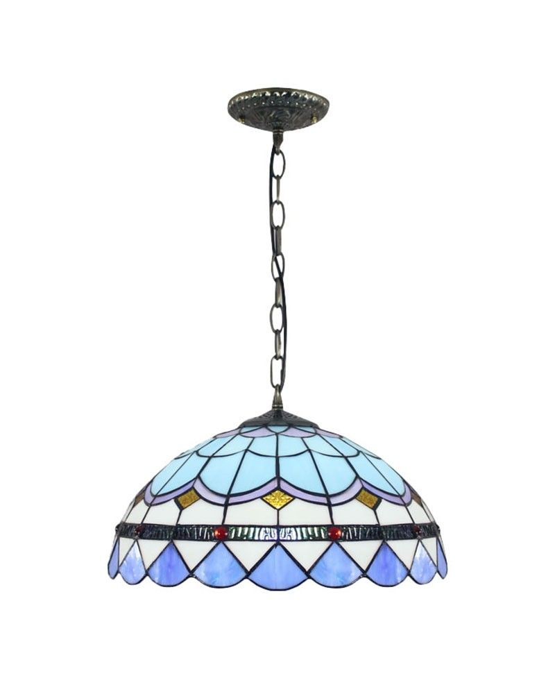 White Green Blue Grid Tiffany Pendant Lamp | For the Home ...