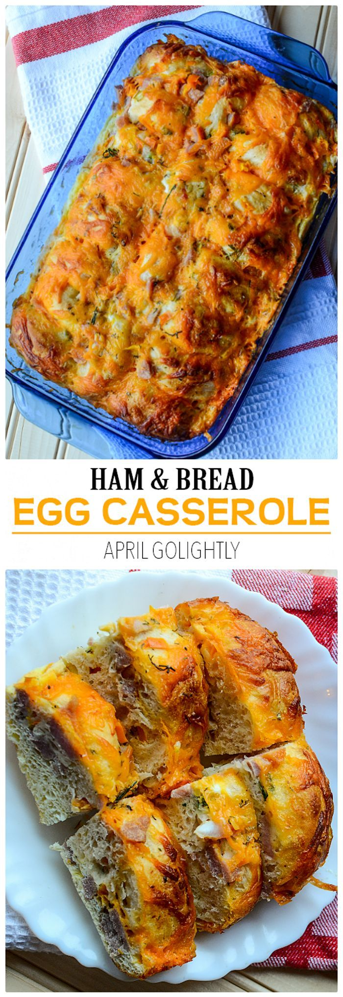 Ham and Bread Egg Casserole Recipe that is super easy to ...