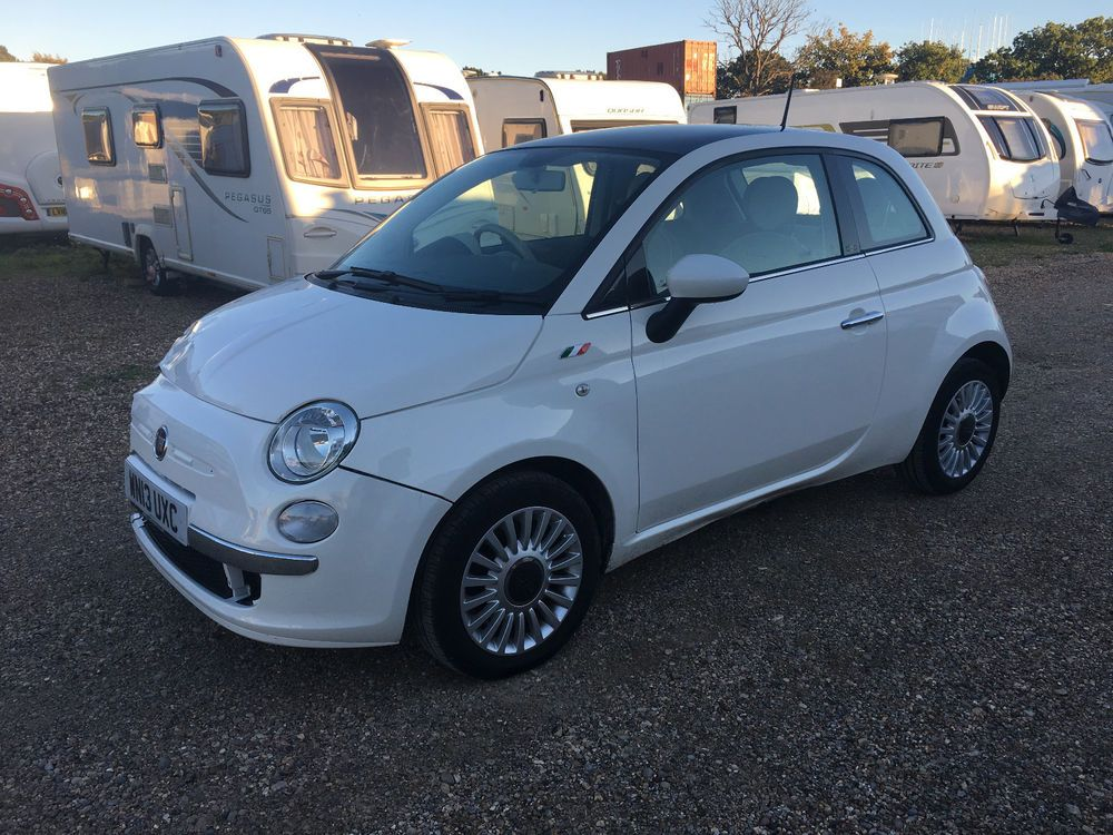 eBay 2013 FIAT 500 LOUNGE WHITE SALVAGE DAMAGED REPAIR