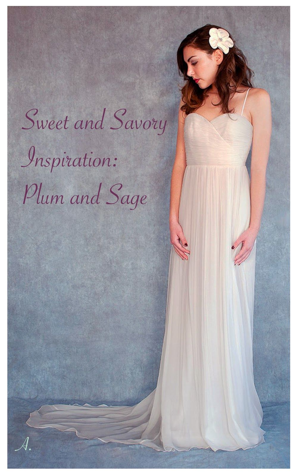 In Tandem Fair Trade Weddings: Inspiration Board: Plum and Sage