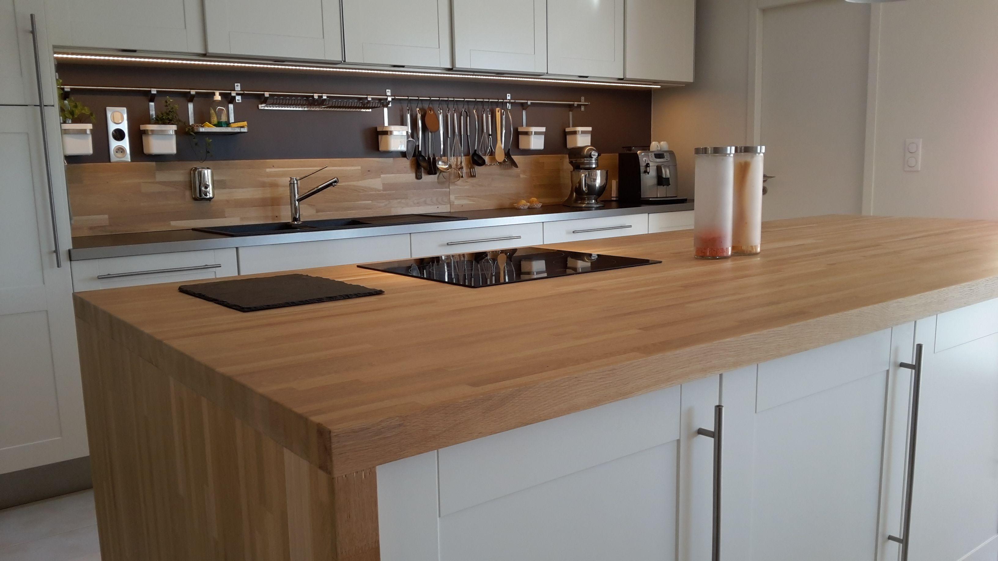 plan de travail bois massif sur mesure plan de travail cuisine hetre r novation sur mesure avec. Black Bedroom Furniture Sets. Home Design Ideas