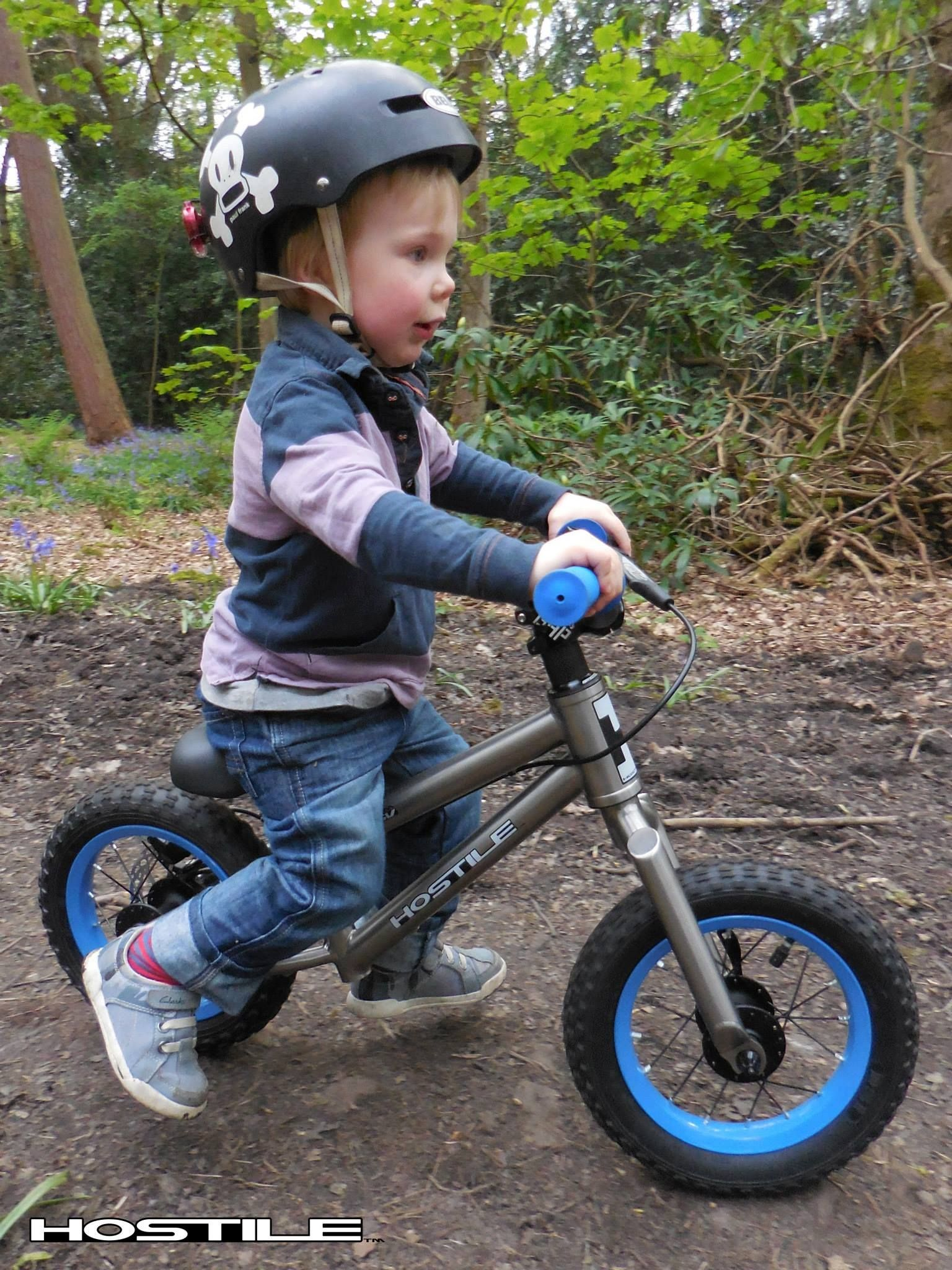 2 Year Old Toddler Testing Out The Hostile Balance Bike Hostile
