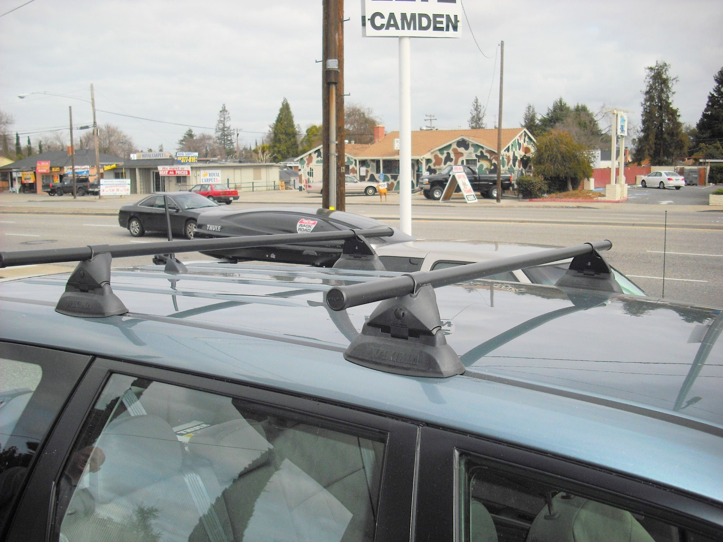Subaru Forester Featuring A Yakima Control Tower Car Racks Car Roof Racks Bike Trailer Hitch