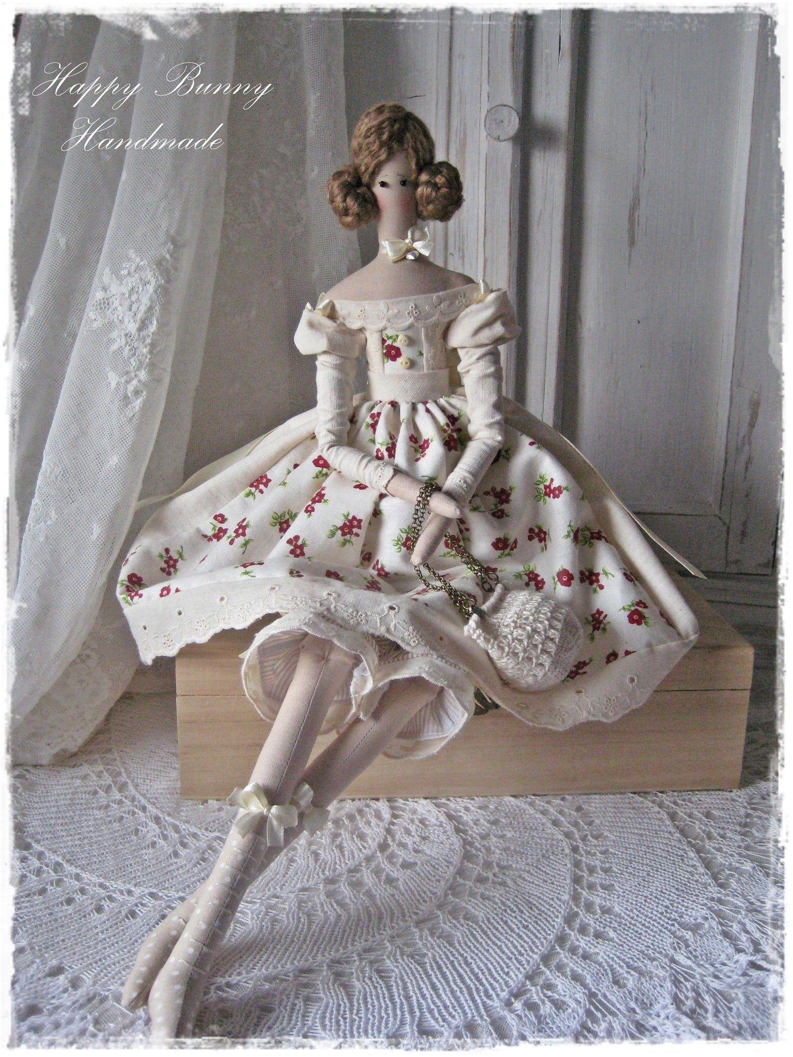 Tilda Doll Miss Annabel Primitive Doll Handmade Cloth Doll Etsy Kukly Ruchnoj Raboty Hudozhestvennye Kukly Tkan