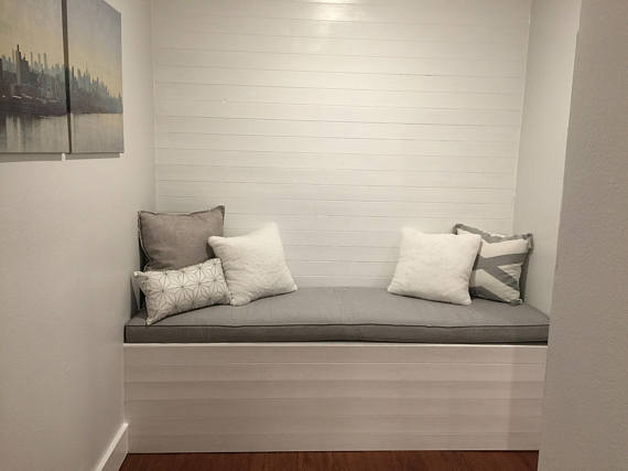 Custom Size Window Seat Bench Mudroom Reading Nook