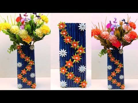 How To Make Newspaper Paper Flower Vase At Home