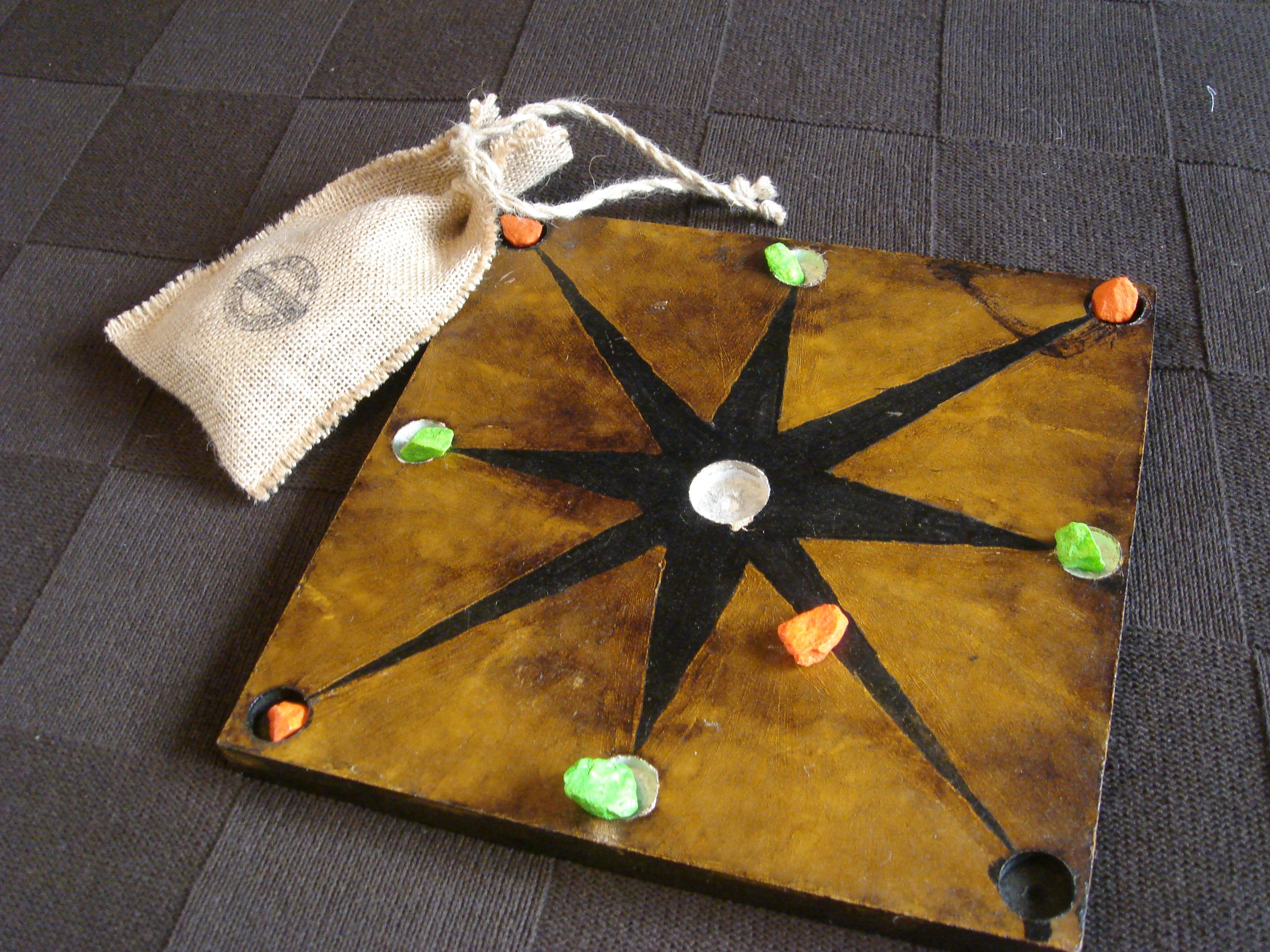 This lovely mu-torere board very much resembles an authentic one I've seen in a book (https://tallerludonauta.wordpress.com/2012/10/24/bagh-chal/?utm_content=buffer24a14&utm_medium=social&utm_source=pinterest.com&utm_campaign=buffer)