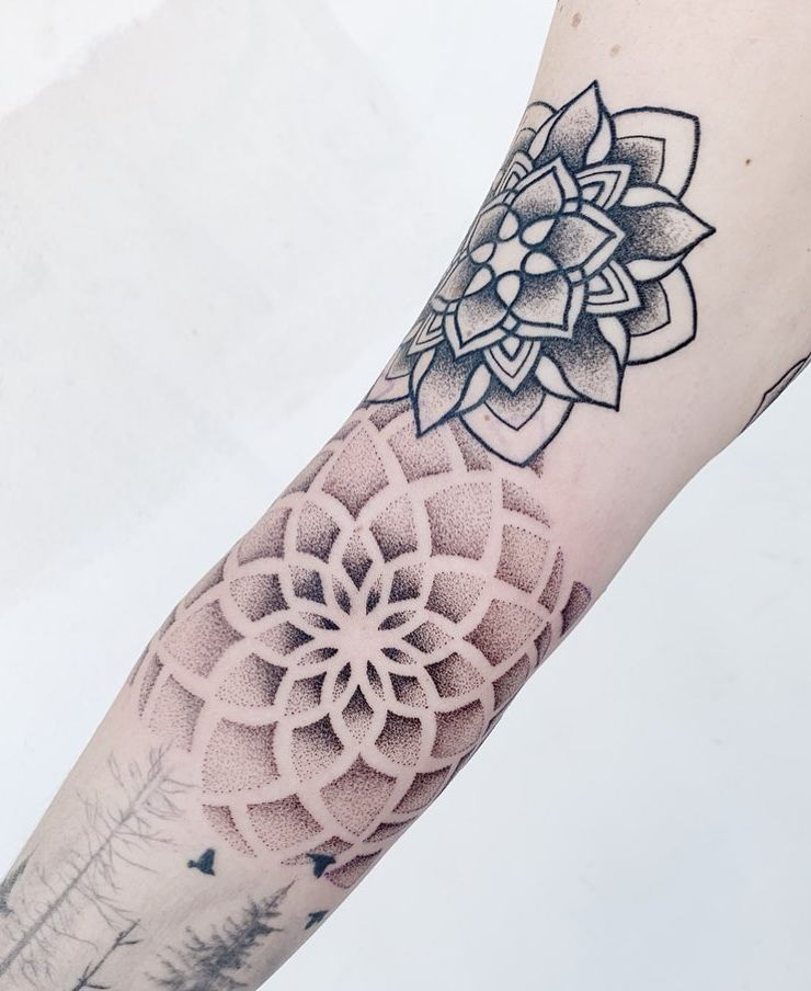 50 of the Most Beautiful Mandala Tattoo Designs for Your Body & Soul | Flower of life tattoo, Mandala tattoo sleeve, Mandala tattoo