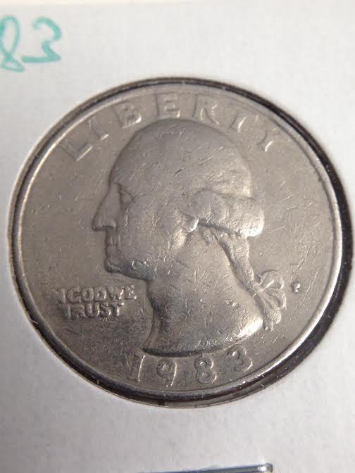 1983 Washington Quarter Error Coin   Coins   Error coins
