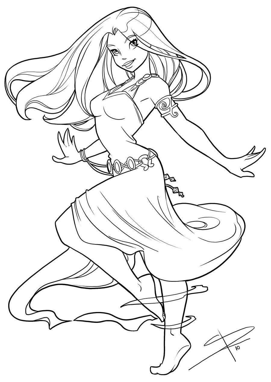 Dancing and flowing by Sabinerich.deviantart.com on @deviantART | Za ...