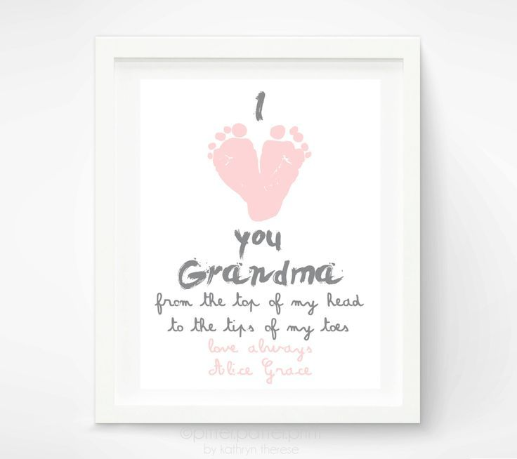 Personalized Mother's Day Gift for Grandma - I Love you Grandma ...
