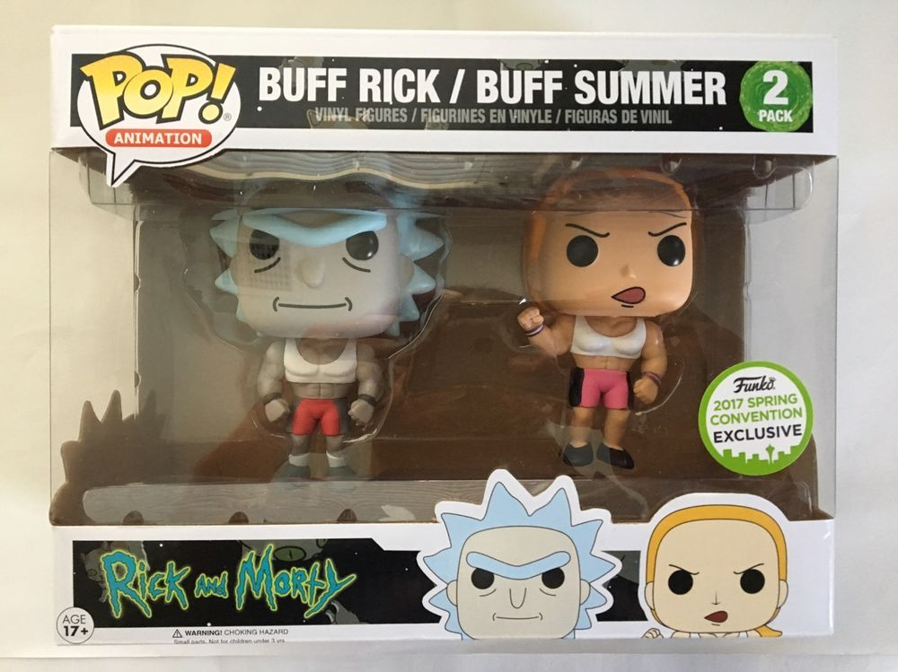 Funko POP! Rick and Morty BUFF RICK & BUFF SUMMER 2 Pack ECCC Exclusive NEW  | eBay