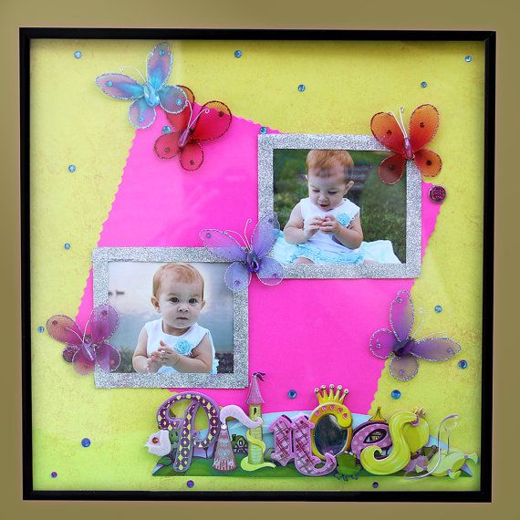 Scrapbook Picture Frames by SweetPeaFrames on Etsy, $24.99