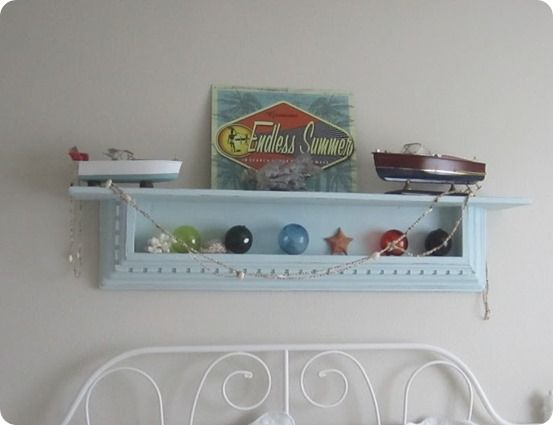 decorative wall shelf by susan of endless summer see all the shelves hubby created from - Decorative Wall Shelf
