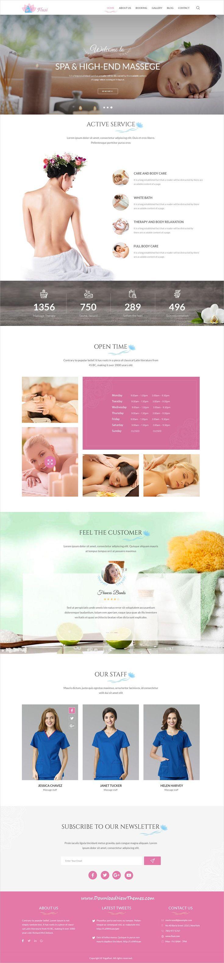 flusi yoga studio and spa beauty psd template psd templates