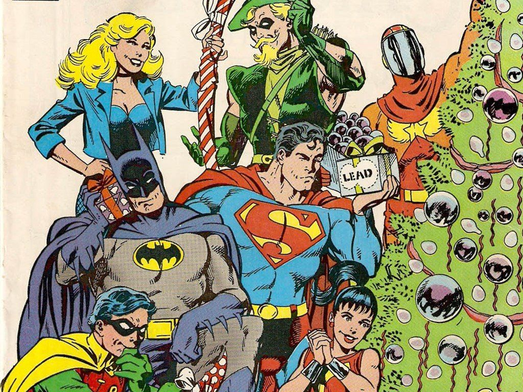Comics Wallpaper Classic Dc Comics Christmas With Images