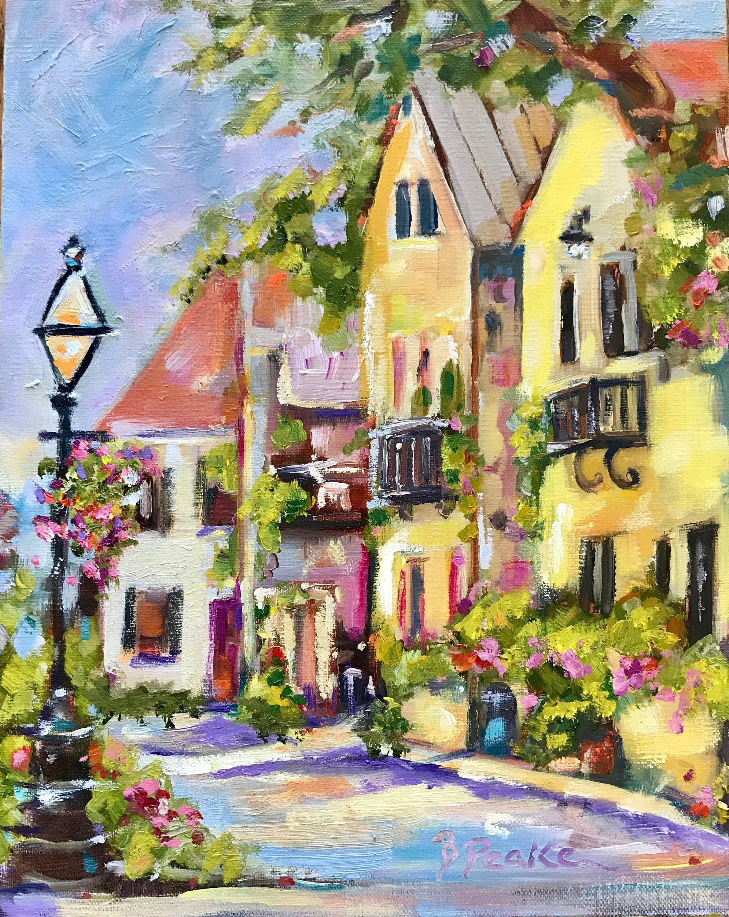 Original Oil Painting Charleston Art 8x10 Cityscape Brenda Peake