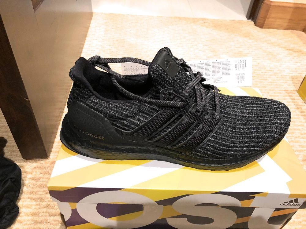 017f7b439 ADIDAS ULTRA BOOST TRIPLE BLACK SHOES