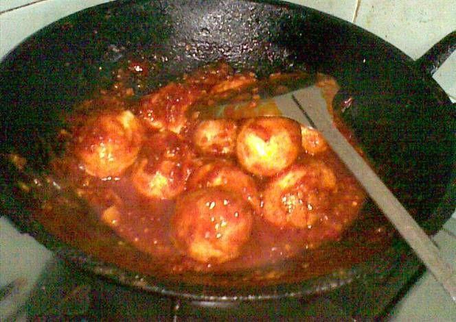 Resep Telur Goreng Balado Ala Indofood Hot Spicy Oleh Elisa Nurma Resep Telur Goreng Telur Resep