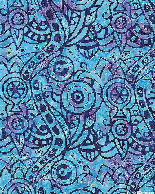 Bali Bliss - Labyrinth Batik - Bahama Blue