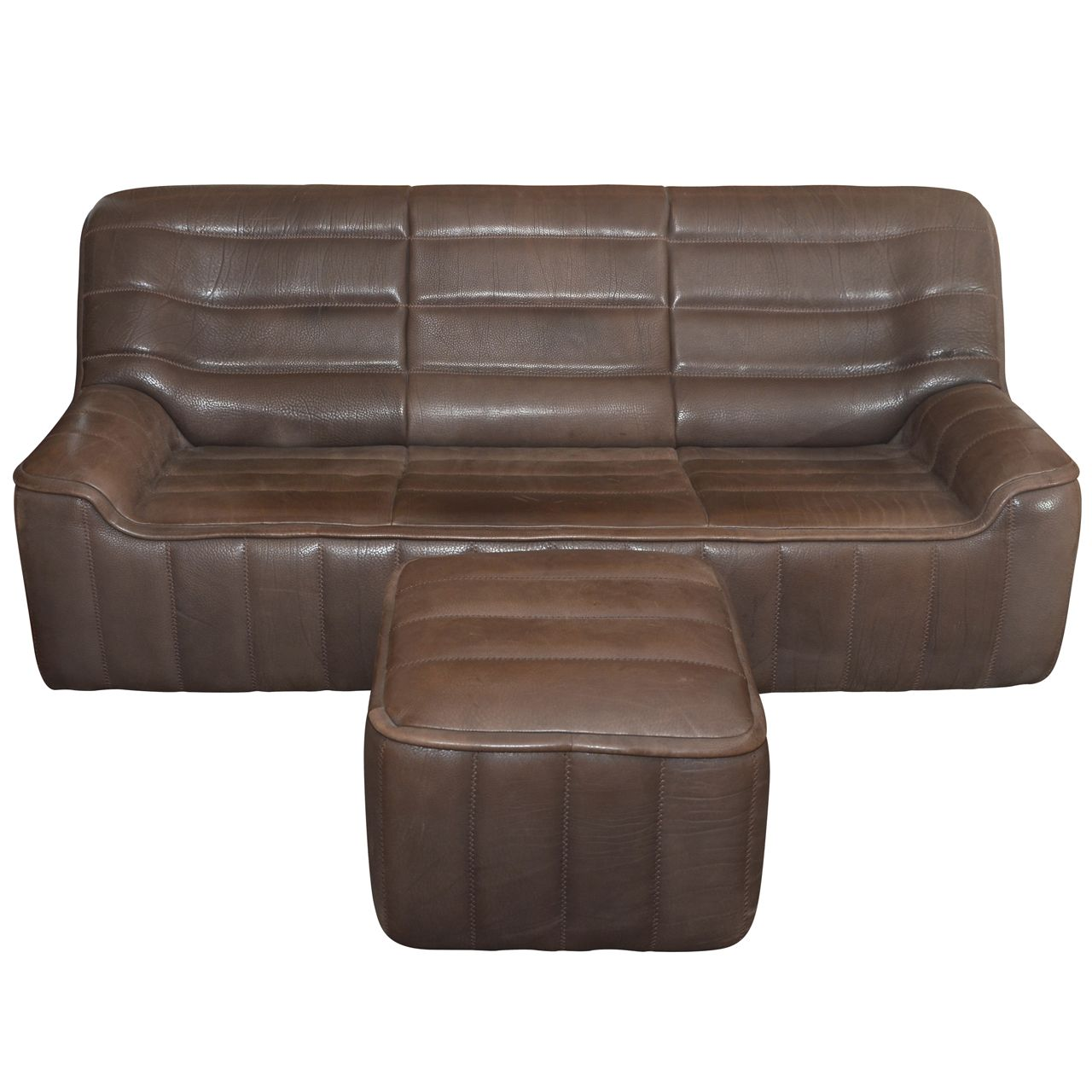 mostly sofas extra wide sectional sofa 1970s and ottoman model quotds 84 quot by de sede 20th c