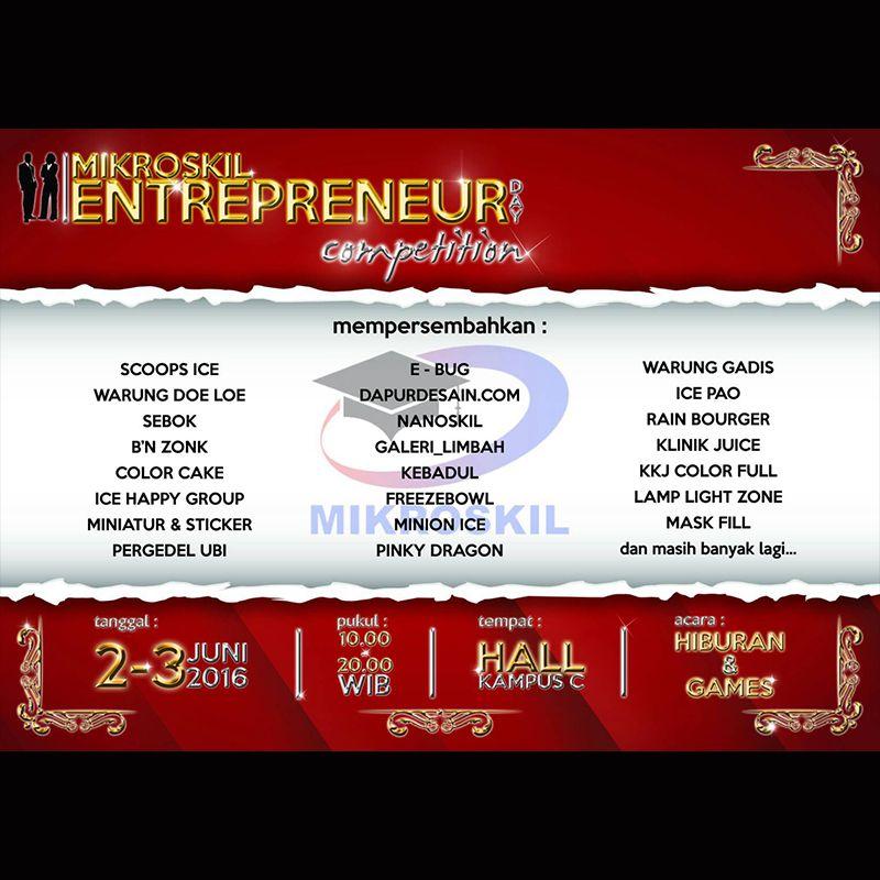 Pastikan Kehadiran Anda Dalam Event Mikroskil Entrepreneur Days