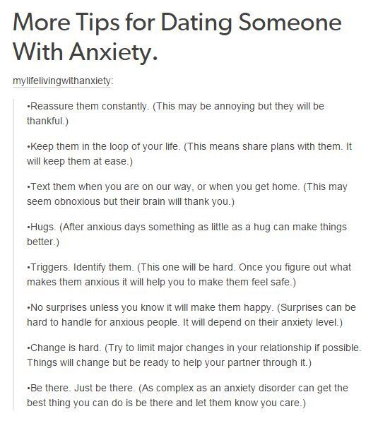 How to cope with dating someone with anxiety