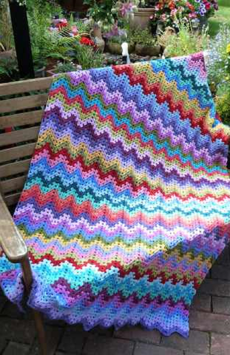 Ripple Afghan Crochet Pattern Cool Inspiration